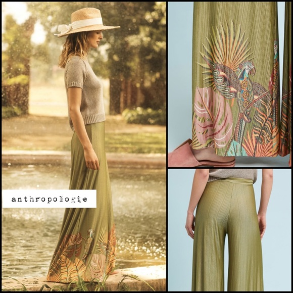 7fbb806b147 Anthropologie Pants | Farm Rio Guadalupe Wide Legs Nwt Xl | Poshmark